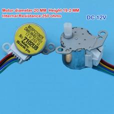 Електродвигун кроковий постійного струму DM61N497H01 12В 4-х фазний 5 кабельних виводів