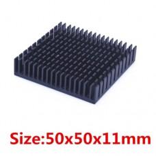 Радіатор алюмініієвий 50x50x11mm чорний