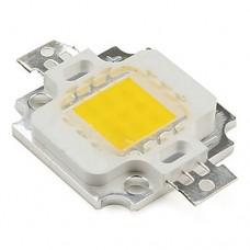 Светодиод белый холодный 10W 9-12V 900mA 6000-6500K на Al подложке для прожектора