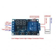 Таймер-реле времени XY-J02 программируемое с micro USB 6-30VDC регулировка 0,1сек-999 мин