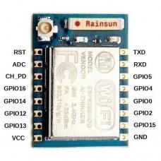 Модуль Wi-Fi  ESP8266 (ESP-07) со встроенным стеком протокола TCP/IP и управлением AT-командами