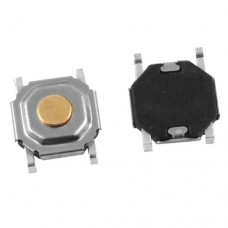 Кнопка тактовая smd TS004-S100C2C15C h1.5mm 4pin 50mA 12VDC, 50000 циклов
