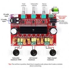 Аудио усилитель XH-M139 на TPA3116D2 2x80W + 100W сабвуфер на NE5532