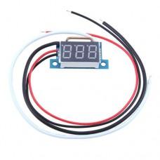 Амперметр цифровой бескорпусной 0-10A красная посветка LED 0.36