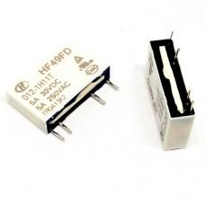 HF49FD/012-1H11T SPST-NO 12VDC 5A миниатюрные реле