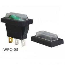 Аксессуар для переключателя тип Rocker WPC-03 (силиконовый кожух с рамочкой) IP65