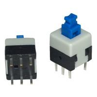Кнопка минипереключатель PSM 6pin ON-ON DC 60V 0.1A 8x8mm без фиксации