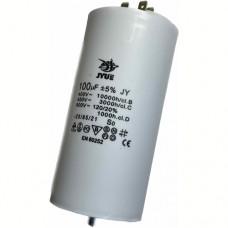 Пусковой конденсатор 100uF 450V +/-5% 50/60Hz -25...+85°C EN60252 клеми та болт