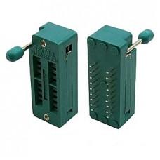 Панелька ZIF-DIP SCZP-18 (228-3341) с нулевым усилием, шаг 2.54mm для микросхемы