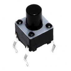 Кнопка тактовая TS-1102 4pin DC 12V 50mA 100000 циклов H6.5