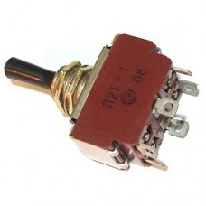 Тумблер П2Т-1 ON-OFF-ON DPDT 6pin, 6A 250VAC