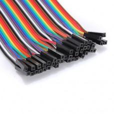 Перемычки-шнуры мама-мама для Arduino разноцветные 0.1m 10 шт