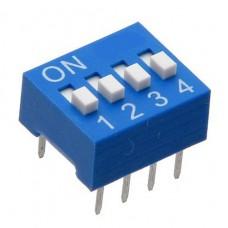 Переключатель SWD1-4 DIP (KLS7-DS-04)