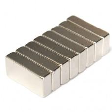 Магнит неодимовый NdFeB N42 вес 7.6 г, сила 3.8 кг прямоугольник