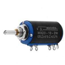 10K0 WXD3-13-2W-10K ±5% 2W L=20mm резистор переменный 10 оборотов