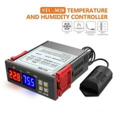 Терморегулятор STC-3028 110-220AC 10A -50 ~ +99°C до 3W з датчиком NTC та вологи