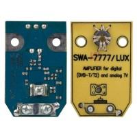 Усилитель антенный SWA-7777/LUX Turbo широкополосный для DVB-T и DVB-T2 с питанием 12 Вольт