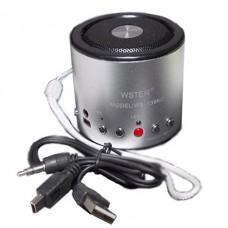 Аудио-колонка WS-138RC портативная, mp3, mp4 FM 87.5 - 108 MHz USB 5V, 3W