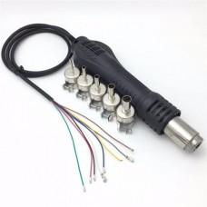 Фен для паяльной станции 858, 858D, 878A, 878D и 878D + 220VAC набор насадок 5 шт