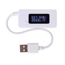 Тестер USB KCX-017 для измеряния емкости, тока, напряжения и время потребления повербанков и акумуляторов 4-20V, 0-3A