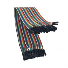 Перемычки-шнуры мама-мама для Arduino разноцветные 0.2m 10 шт