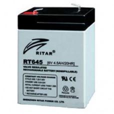 RITAR RT645 AGM (6V4.5Ah/20hr) аккумулятор