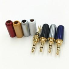 Штекер Jack стерео 3.5mm, металлический корпус Sennheiser, темно-синий корпус