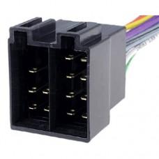 Сдвоенная колодка разъема типа ISO вилка x2, контакты: 14pin (8+6)