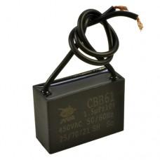 Пусковой конденсатор 1.2uF 400/450V +/-5% 50/60Hz -25...+85°C CBB61 гибкие выводы