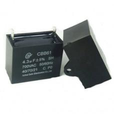 Пусковой конденсатор 15uF 400/450V +/-5% 50/60Hz -25...+85°C CBB61