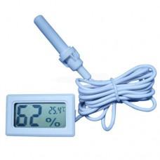 Термометр-гигрометр цифровой с выносным датчиком -50 °C ~ 70 °C питание 2xLR44 белый