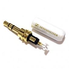 Штекер Jack стерео 3.5mm, металевий корпус Sennheiser, белый перламутр корпус