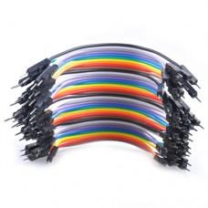 Перемычки-шнуры папа-папа для Arduino разноцветные 2.54mm 0.1m 10 шт