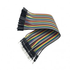 Перемычки-шнуры папа-мама для Arduino разноцветные 2.54mm 0.2m 10 шт