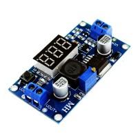 Импульсный модуль питания DC-DC понижающий на LM2596S-ADJ Input: DC4.0-40V Output: DC1.3-37V 2A с вольтметром