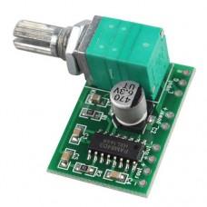 Аудио усилитель GF1002 2x3W 2.5-5.5V мини модуль PAM8403 с регулятором громкости