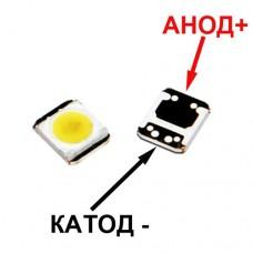 Светодиод белый LATWT470RELZK 3-3.6V 250mA 1W  7000-10000K 100-110lm 120° для ЖК подсветки в TV