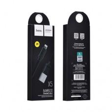 Кабель USB 2.0 A для IPhone 5/5s/6  USB тип А (8pin) X5 Bamboo Lightning 1m