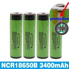 Aккумулятор Panasonic Li-ion NCR18650B 3.7V 3400mAh с защитой