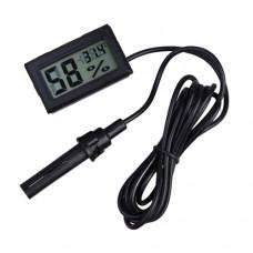 Термометр-гигрометр цифровой с выносным датчиком -50 °C ~ 70 °C питание 2xLR44 черный
