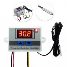 Терморегулятор XH-W3001 12VDC 10A 120W -50 ~ +110°C с выносным датчиком NTC 10 kOhm