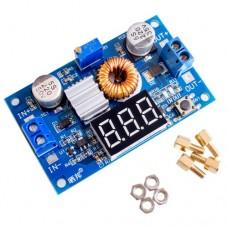 Импульсный модуль питания DC-DC понижающий на XL4015 DC4.0-38V Output: DC1.25-35V 4.5-5A 75W с вольтметром