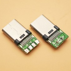 Micro USB 3.1 Type C 10pin вилка на плату