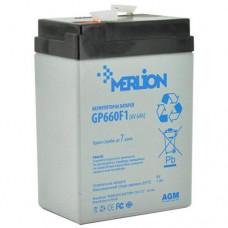 MERLION GP660F1 (6V6Ah/20hr) аккумулятор
