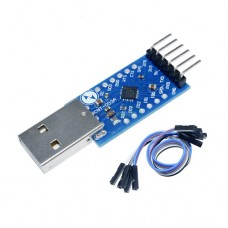 Конвертер-адаптер USB-UART TTL 6pin на CP2104 3.3V, RST, TXD, RXD, GND, +5V