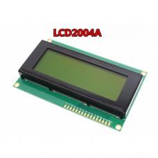 Индикатор LCM2004A Arduino на HD44780 желто-зеленый фон