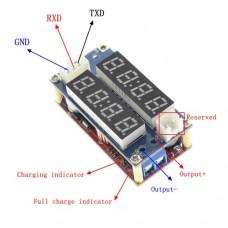 Импульсный модуль питания DC-DC понижающий на XL4015 Input: DC5.0-32V Output: DC0.8-30V до 5A 75W з вольтметром и амперметром