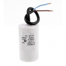 Пусковой конденсатор 12uF 450V 50/60Hz -25...+85°C ±5% EN60252 кабель