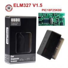 Сканер-адаптер супер мини ELM327 OBDII V1.5 Bluetooth на прошивке PIC18F25K80 для проведения диагностики автомобиля