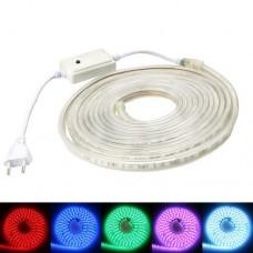 Лента светодиодная 14-RGB 60RGB5050-220V-8 8W/m 4Pin IP65 220VAC